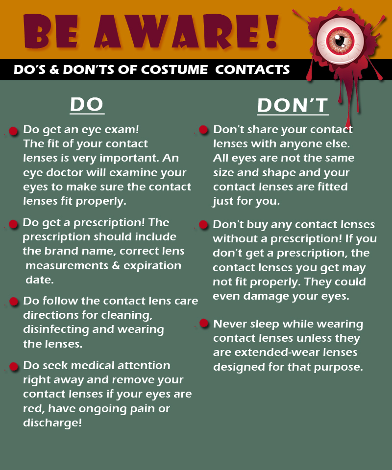 Beware of Costume Contacts - Discovery Eye Foundation