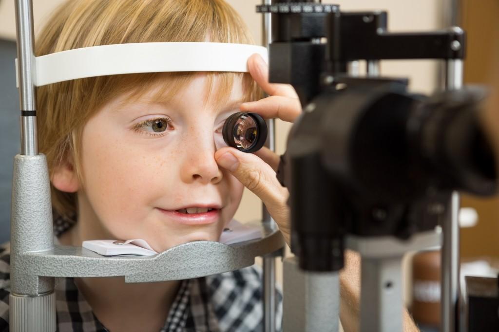 Child refractive exam - pediatric contact lenses